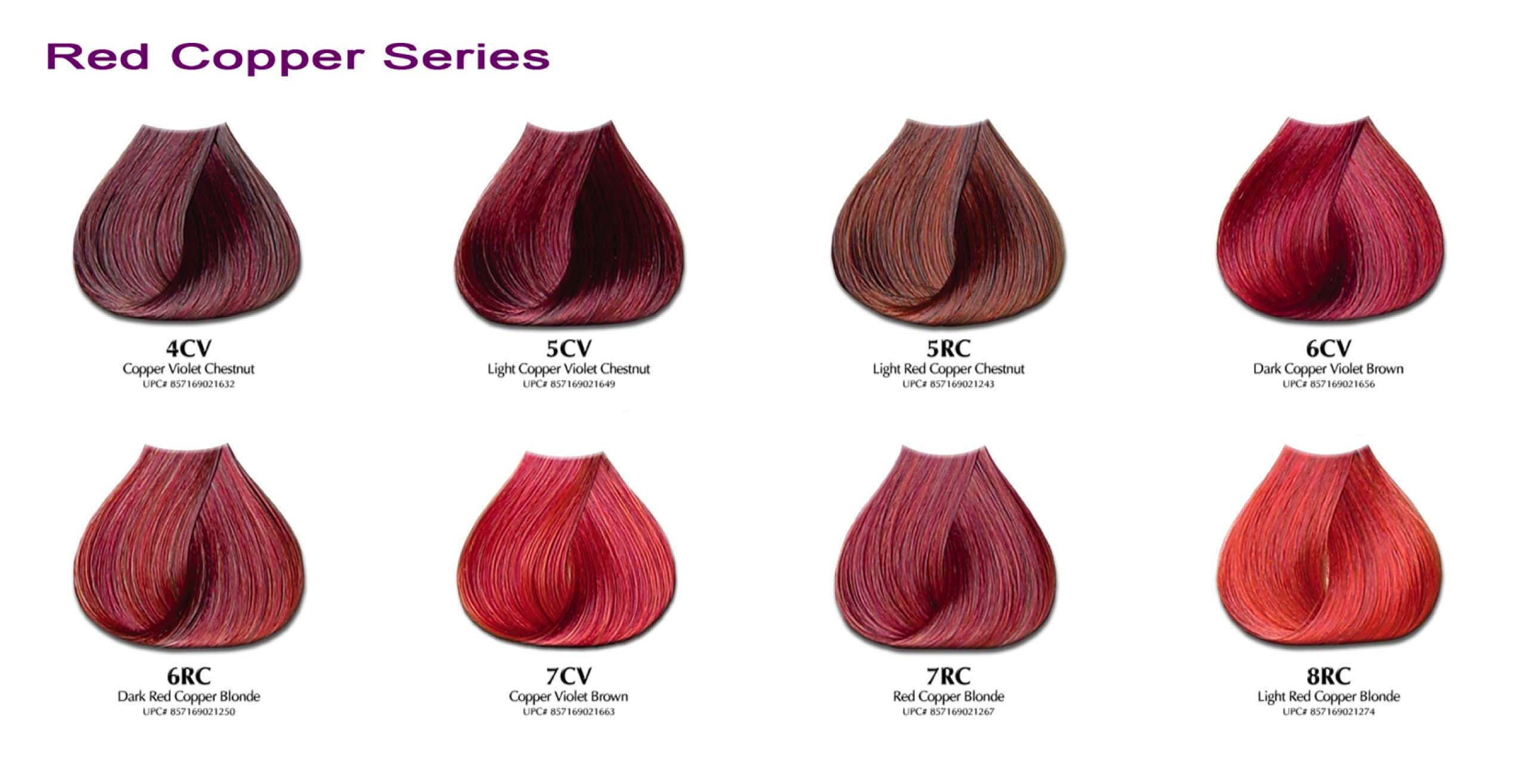Hair Color Chart Red Keninamas